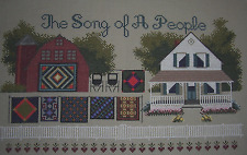 Amish Song of A People, completed cross stitch