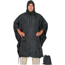 FOX MILITARY Style RAIN PONCHO - Ripstop - BLACK