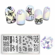 Harunouta Nail Art Stamping Plate Rectangle Flower Nail Image Stamp Stencil L075