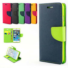 Wallet Flip Leather Phone Card Cover Case For Apple iPhone 4S 5S 5C 6 6S Plus