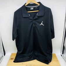 USED XL Jordan Golf Mens Polo Black White Short Sleeve Dri Fit 865856-010