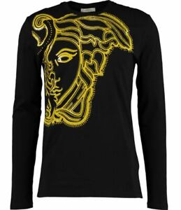 Versace Collection men's long sleeve t-shirt - Large front Medusa Head