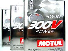 3x 2liter MOTUL 300v POWER 5w40 5w-40 ACEITE DE MOTOR ESTER Core Carreras