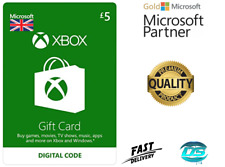 Microsoft Xbox Live £5 GBP UK Gift Card Points Pounds For Xbox 360 / Xbox One