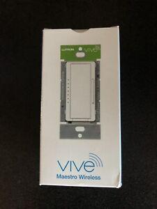 New Lutron MRF2S-6ND-120-GR Vive Maestro Wireless RF Dimmer Gray 120V