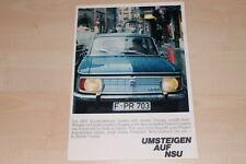 72764) NSU 1000 C 1200 C TT TTS Spider Coupe Prospekt 196?