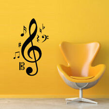 Wall Decal Sticker Vinyl Note Music Romance Song Key Treble Clef M427