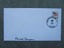 Ronald Reagan handsigned Sonderbriefumschlag 1980 inperson Election Day !!