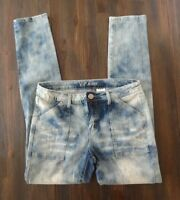 Vip Jeans Juniors Size 9/10 Light Acid Washed Distressed Denim Skinny Jeans