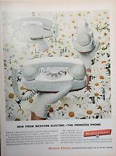 Lot 3 Vintage Western Electric Advertisements Princess Phone
