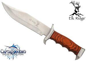 ELK RIDGE LARGE HUNTER BOWIE HUNTING KNIFE DEER SKINNING KNIFE WITH SHEATH ER012