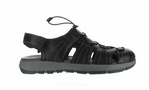 Clarks Mens Brixby Cove Black Leather Sport Sandals Size 13 (1663686)