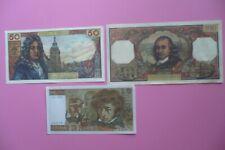 Copie de 3 Billets scolaires  :50 F Racine  100 F  Molière  10 F Berlioz / Neufs