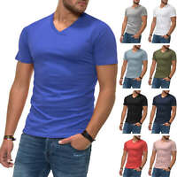 Jack & Jones Herren T-Shirt Basic Kurzarmshirt V-Neck Shirt Color Mix NEU