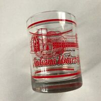 Indiana University Glass VTG Mixed Drink Hoosiers Clear Red Gold Rocks Alumni