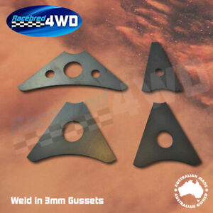 Laser Cut Weld In 3mm Thick 100mm Length Gusset Style 1
