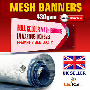 MESH - PVC BANNER PRINTING - SHOP BANNER - BANNER PERSONALISED - MESH INCH 430g