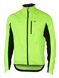Pearl Izumi Elite Softshell Thermal Long Sleeve Jacket Yellow Black Small New