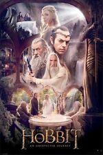 The Hobbit ~ White Council ~ 24x36 Movie Poster Unexpected Journey Ian McKellen
