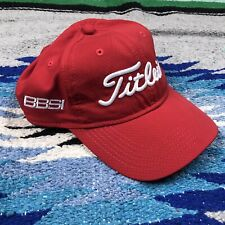 Titleist Mens Red Slouchy Embroidered Golf Hat Adjustable Strap