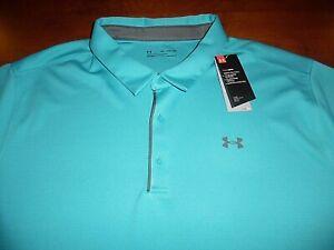 Under Armour 4XL Golf Polo Tec HeatGear/AntiOdor Blue Loose Fit XXXXL