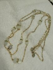 WHITE HOUSE BLACK MARKET Double Chain Necklace with Crystals and Beads NEW