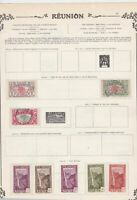 reunion stamps sheet ref 11114