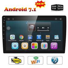 "10.1"" Single DIN Android 7.1 Car Headunit Stereo GPS SAT NAV DAB+ Radio WiFi BT"