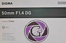Sigma ART 50mm F1.4 DG für Nikon - 12 Monate Gewährleistung