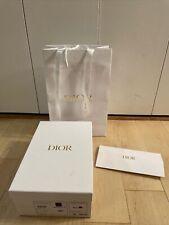 DIOR Authentic White Empty Shoe Gift Box 12x8x4.5 w/ Gold Logo Tissue Paper, Bag