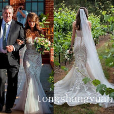 Newest Lace Mermaid Bridal Gowns Sweetheart White Ivory Trumpet Wedding Dresses