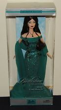 2002 Birthstone Collection May Emerald Barbie Doll NRFB #B3413 Brunette