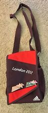 ADIDAS LONDON 2012 OLYMPICS TEAM PURPLE BACKPACK BAG POUCH SACK + **BONUS** PINS