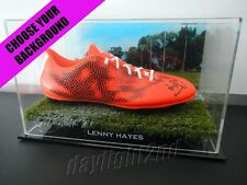 ✺Signed✺ LENNY HAYES Football Boot PROOF COA St Kilda Saints 2017 Guernsey