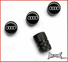 AUDI Emblem Set Of 4 Lasered Logo Wheel Tyre Valve Caps