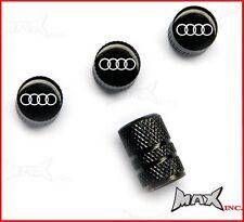AUDI Emblem Set Of 4 Lasered Logo Wheel Tyre Valve Caps