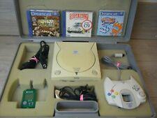 Sega Dreamcast Bundle Konsole Controller führt benutzerdefinierte Tragetasche und 3 Spiele