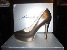 Brian Atwood MANIAC Fresh Kid Metallic Platform Heels Pumps Shoes Cappuccino 39