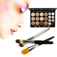 New 20 Colors Contour Face Cream Concealer Palette + Powder Brush Daily Makeup
