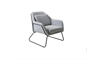BRAND NEW Argos Home Juliette Velvet Fabric Accent Chair - Light Grey