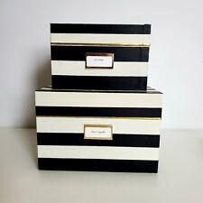 Kate Spade New York Nesting Box Set of 2 - Black & White Striped