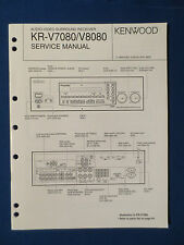 KENWOOD KR-V7080 KR-V8080 RECEIVER SERVICE MANUAL ORIGINAL GOOD CONDITION
