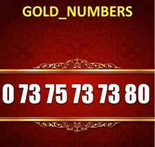 GOLD MOBILE NUMBER MEMORABLE EXCLUSIVE GOLDEN EASY VIP 07375737380
