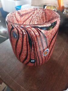"4"" Studio Art Glass Hand Blown Ground Pontil Signed Unknown"