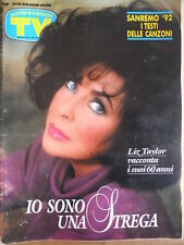 TV Sorrisi e Canzoni n°8 1992 Liz Taylor - Speciale Sanremo con Testi canz [D43]