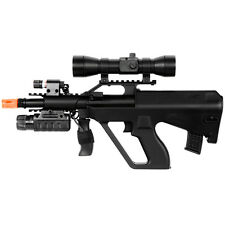 DOUBLE EAGLE AUG STYLE SPRING AIRSOFT RIFLE Laser Flashlight Red Dot Scope