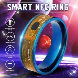 NFC Smart Wearable Ring 8 Sizes Gold For Windows iOS Android Phone Gifts