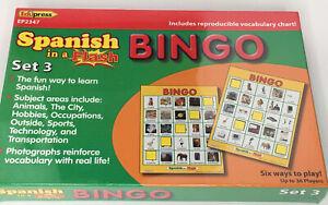 Spanish In A Flash Bingo  Set 3 EP2347 Edupress Learn Language Game New Sealed