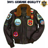 Top Gun Tom Cruise Pete Maverick Flight Bomber Jacket Jet Pilot Leather Jacket