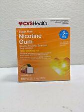 CVS Health Sugar Free Nicotine Gum 100 Pieces 2 MG Coated Fruit EXP:07-2020